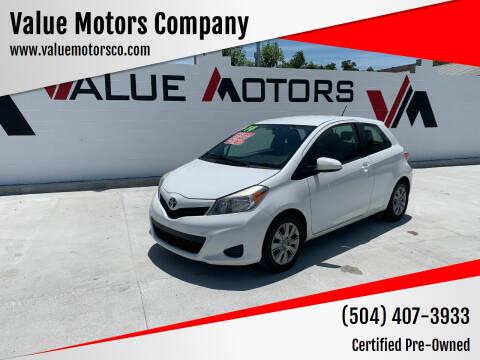 2014 Toyota Yaris for sale at Value Motors Company in Marrero LA