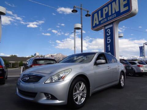 2011 Infiniti G37 Sedan for sale at Alpine Auto Sales in Salt Lake City UT