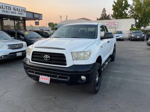 2009 Toyota Tundra for sale at Adams Auto Sales in Sacramento CA