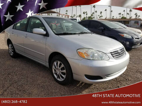 2005 Toyota Corolla for sale at 48TH STATE AUTOMOTIVE in Mesa AZ