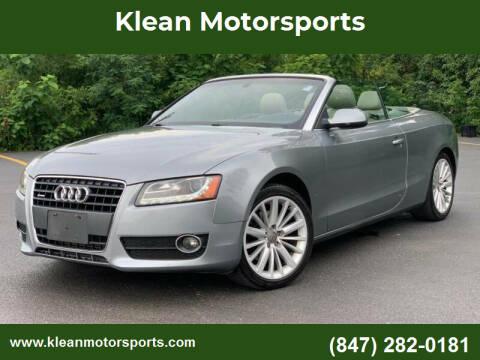 2010 Audi A5 for sale at Klean Motorsports in Skokie IL