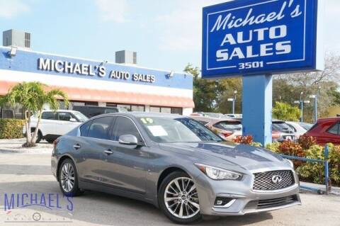 2019 Infiniti Q50 for sale at Michael's Auto Sales Corp in Hollywood FL