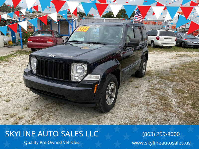 2008 Jeep Liberty for sale at SKYLINE AUTO SALES LLC in Winter Haven FL