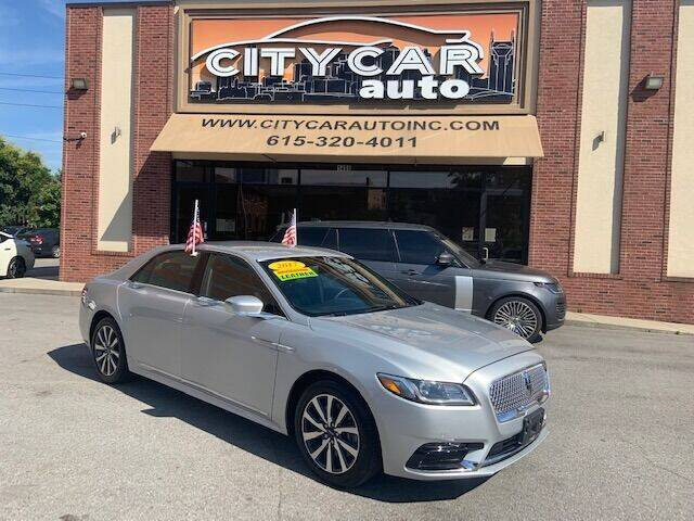 2017 Lincoln Continental for sale at CITY CAR AUTO INC in Nashville TN