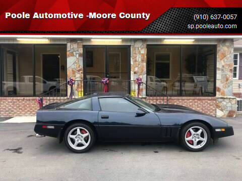 1989 Chevrolet Corvette for sale at Poole Automotive -Moore County in Aberdeen NC