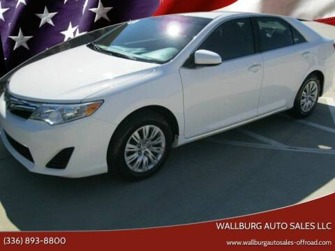 2013 Toyota Camry for sale at WALLBURG AUTO SALES LLC in Winston Salem NC