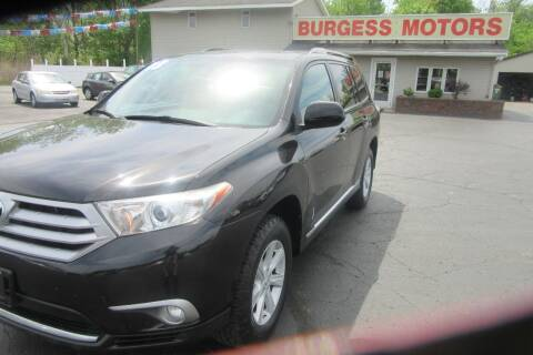 2013 Toyota Highlander for sale at Burgess Motors Inc in Michigan City IN