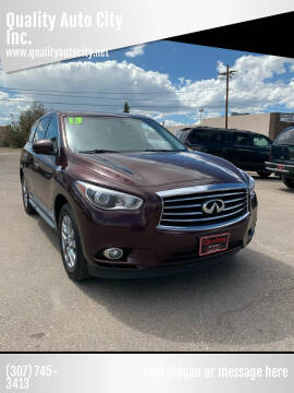 2013 Infiniti JX35 for sale at Quality Auto City Inc. in Laramie WY
