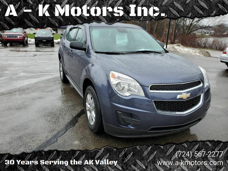 2014 Chevrolet Equinox for sale at A - K Motors Inc. in Vandergrift PA