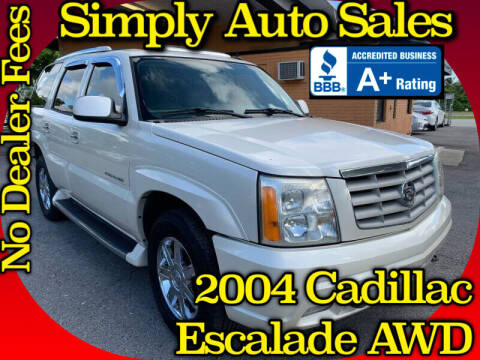 2004 Cadillac Escalade for sale at Simply Auto Sales in Palm Beach Gardens FL