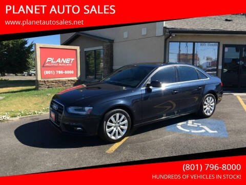 2013 Audi A4 for sale at PLANET AUTO SALES in Lindon UT