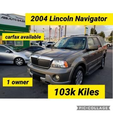 2004 Lincoln Navigator for sale at A2B AUTO SALES in Chula Vista CA
