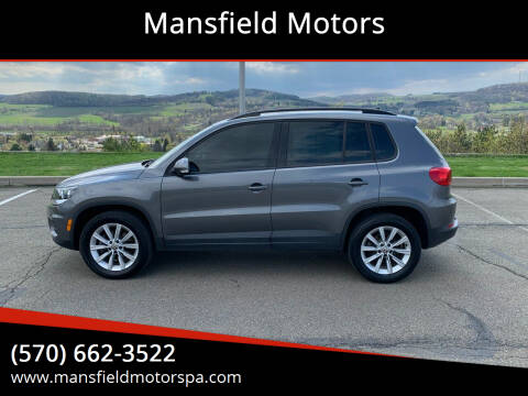 2017 Volkswagen Tiguan for sale at Mansfield Motors in Mansfield PA