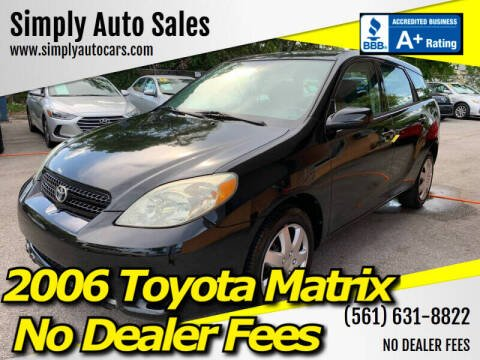 2006 Toyota Matrix for sale at Simply Auto Sales in Palm Beach Gardens FL