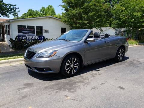 2011 Chrysler 200 Convertible for sale at TR MOTORS in Gastonia NC