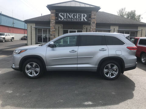 2017 Toyota Highlander for sale at Singer Auto Sales in Caldwell OH