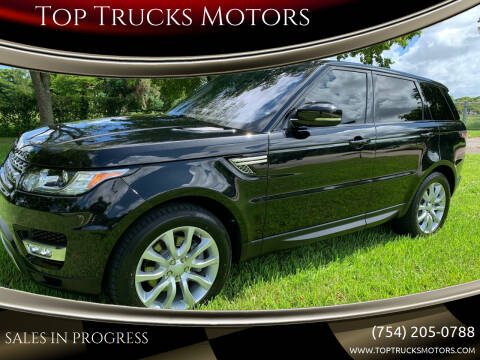 2016 Land Rover Range Rover Sport for sale at Top Trucks Motors in Pompano Beach FL