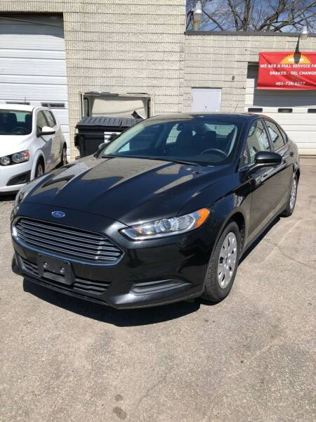 2013 Ford Fusion for sale at Jimmys Auto Sales in North Providence RI