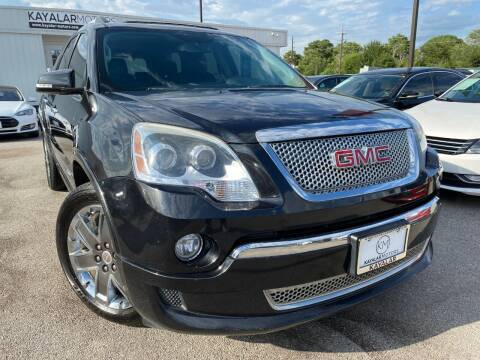 2011 GMC Acadia for sale at KAYALAR MOTORS in Houston TX