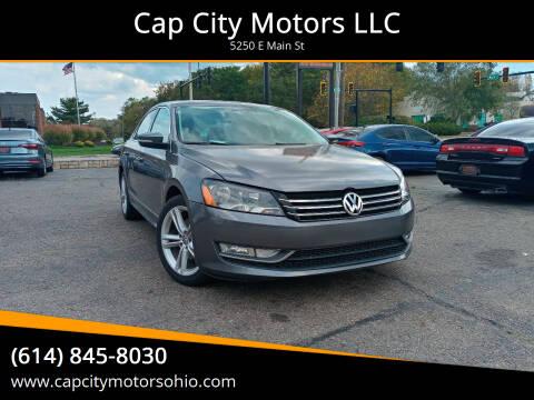 2013 Volkswagen Passat for sale at Cap City Motors LLC in Columbus OH