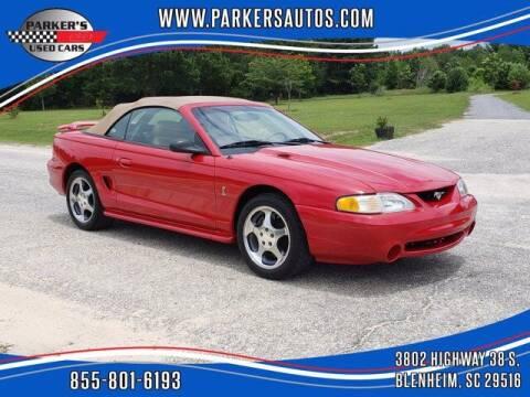 1994 Ford Mustang SVT Cobra for sale at Parker's Used Cars in Blenheim SC