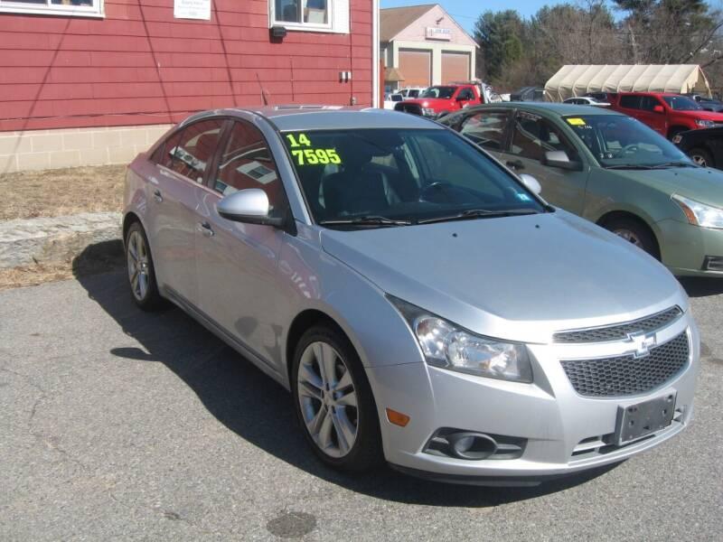 2014 Chevrolet Cruze for sale at Joks Auto Sales & SVC INC in Hudson NH