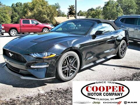2020 Ford Mustang for sale at Cooper Motor Company in Clinton SC