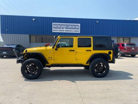 2008 Jeep Wrangler Unlimited for sale at HATCHER MOBILE SERVICES & SALES in Omaha NE