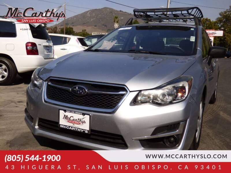 2016 Subaru Impreza for sale at McCarthy Wholesale in San Luis Obispo CA