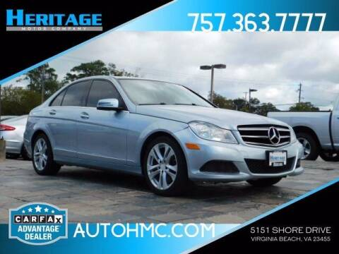 2013 Mercedes-Benz C-Class for sale at Heritage Motor Company in Virginia Beach VA