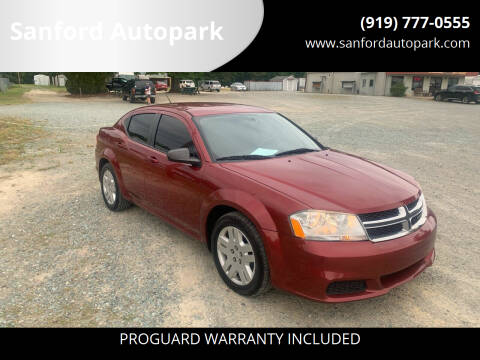 2014 Dodge Avenger for sale at Sanford Autopark in Sanford NC