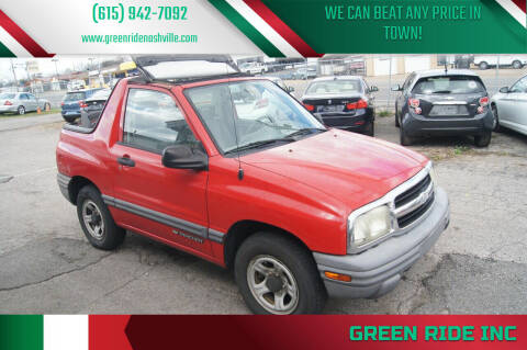 2003 Chevrolet Tracker for sale at Green Ride Inc in Nashville TN