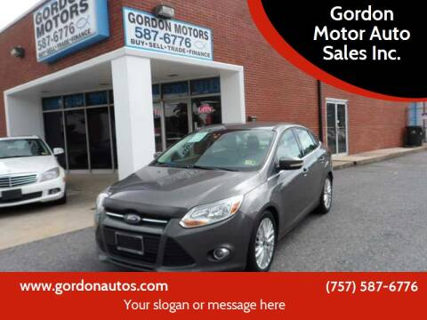 2012 Ford Focus for sale at Gordon Motor Auto Sales Inc. in Norfolk VA