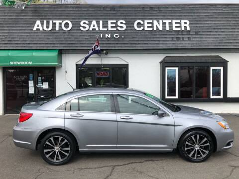 2013 Chrysler 200 for sale at Auto Sales Center Inc in Holyoke MA