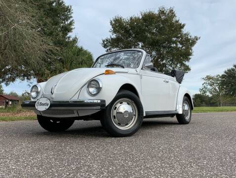 1978 Volkswagen Beetle Convertible for sale at P J'S AUTO WORLD-CLASSICS in Clearwater FL