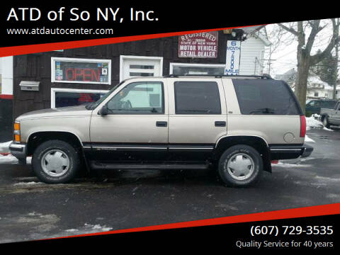 1999 Chevrolet Tahoe for sale at ATD of So NY, Inc. in Johnson City NY