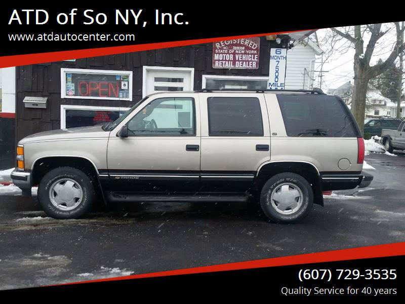1999 Chevrolet Tahoe for sale at ATD of So NY, Inc. in Johnson City NY