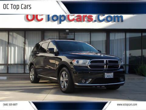 2015 Dodge Durango for sale at OC Top Cars in Irvine CA