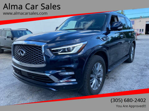 2018 Infiniti QX80 for sale at Alma Car Sales in Miami FL