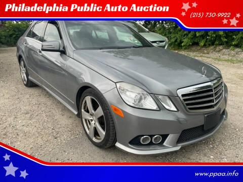2010 Mercedes-Benz E-Class for sale at Philadelphia Public Auto Auction in Philadelphia PA