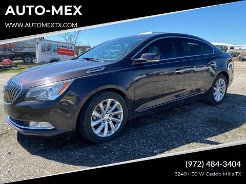 2014 Buick LaCrosse for sale at AUTO-MEX in Caddo Mills TX
