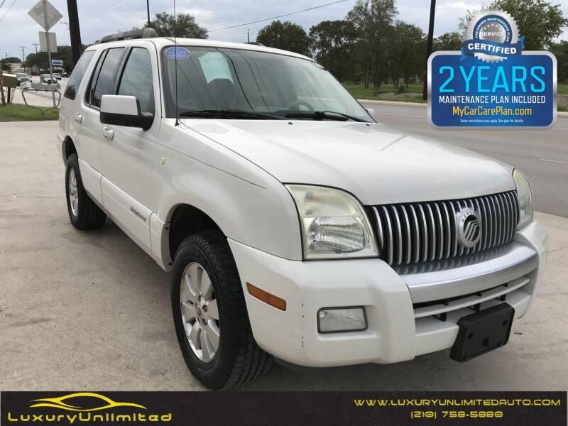 2008 Mercury Mountaineer for sale at LUXURY UNLIMITED AUTO SALES in San Antonio TX