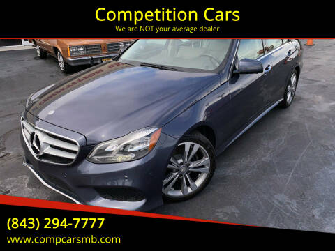 2014 Mercedes-Benz E-Class for sale at Competition Cars in Myrtle Beach SC