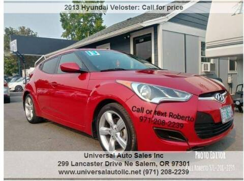 2013 Hyundai Veloster for sale at Universal Auto Sales Inc in Salem OR