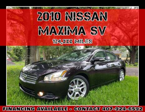 2010 Nissan Maxima for sale at AFFORDABLE ONE LLC in Orlando FL