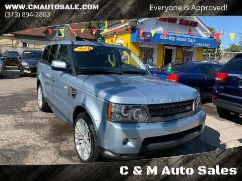 2011 Land Rover Range Rover Sport for sale at C & M Auto Sales in Detroit MI