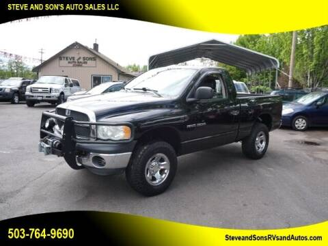 2003 Dodge Ram Pickup 1500 for sale at Steve & Sons Auto Sales in Happy Valley OR