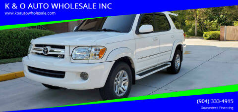 2005 Toyota Sequoia for sale at K & O AUTO WHOLESALE INC in Jacksonville FL