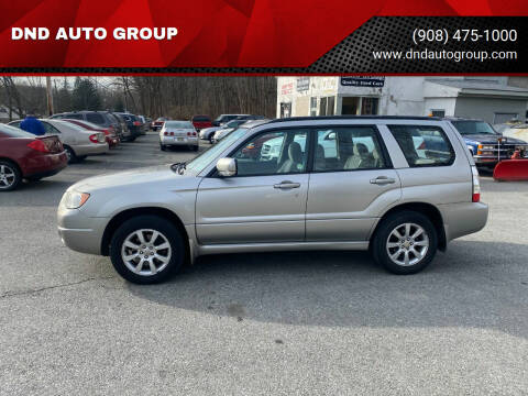 2006 Subaru Forester for sale at DND AUTO GROUP in Belvidere NJ