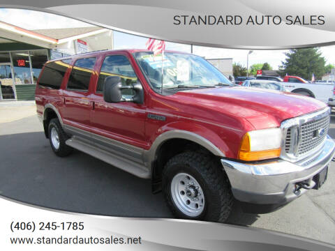 2000 Ford Excursion for sale at Standard Auto Sales in Billings MT